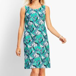 NWT Talbots Green Giraffe Print Sheath Dress